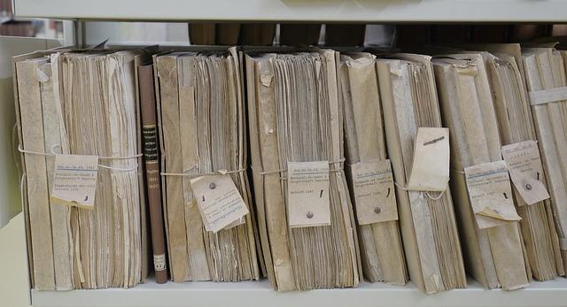 dokumenty v archívu