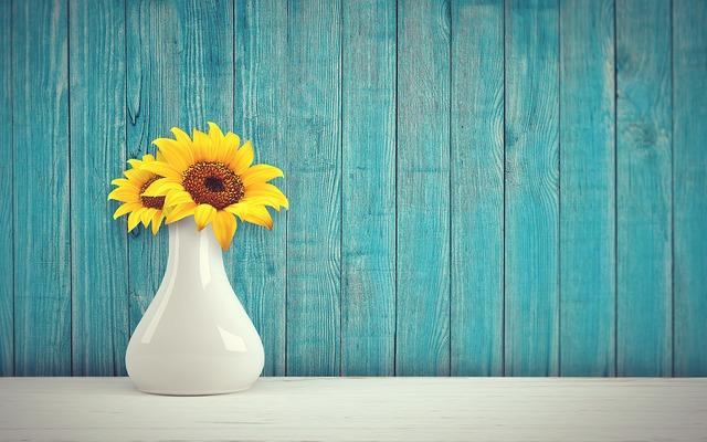 váza na slunečnice